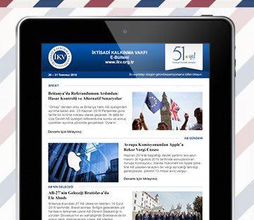 E-BÜLTEN-İktisadi Kalkınma Vakfı Newsletter (E-Bülten)