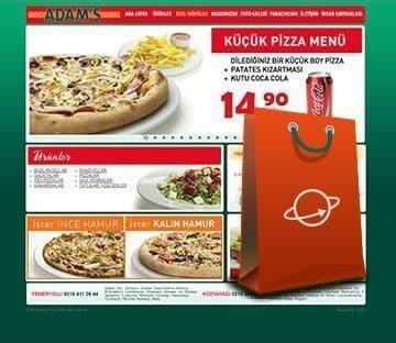 E-TİCARET-Adam's Pizza