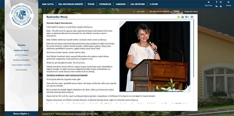 Üsküdar Amerikan Lisesi'nden Yetişenler Derneği Web Sitesi ve Mezun Bilgi Sistemi