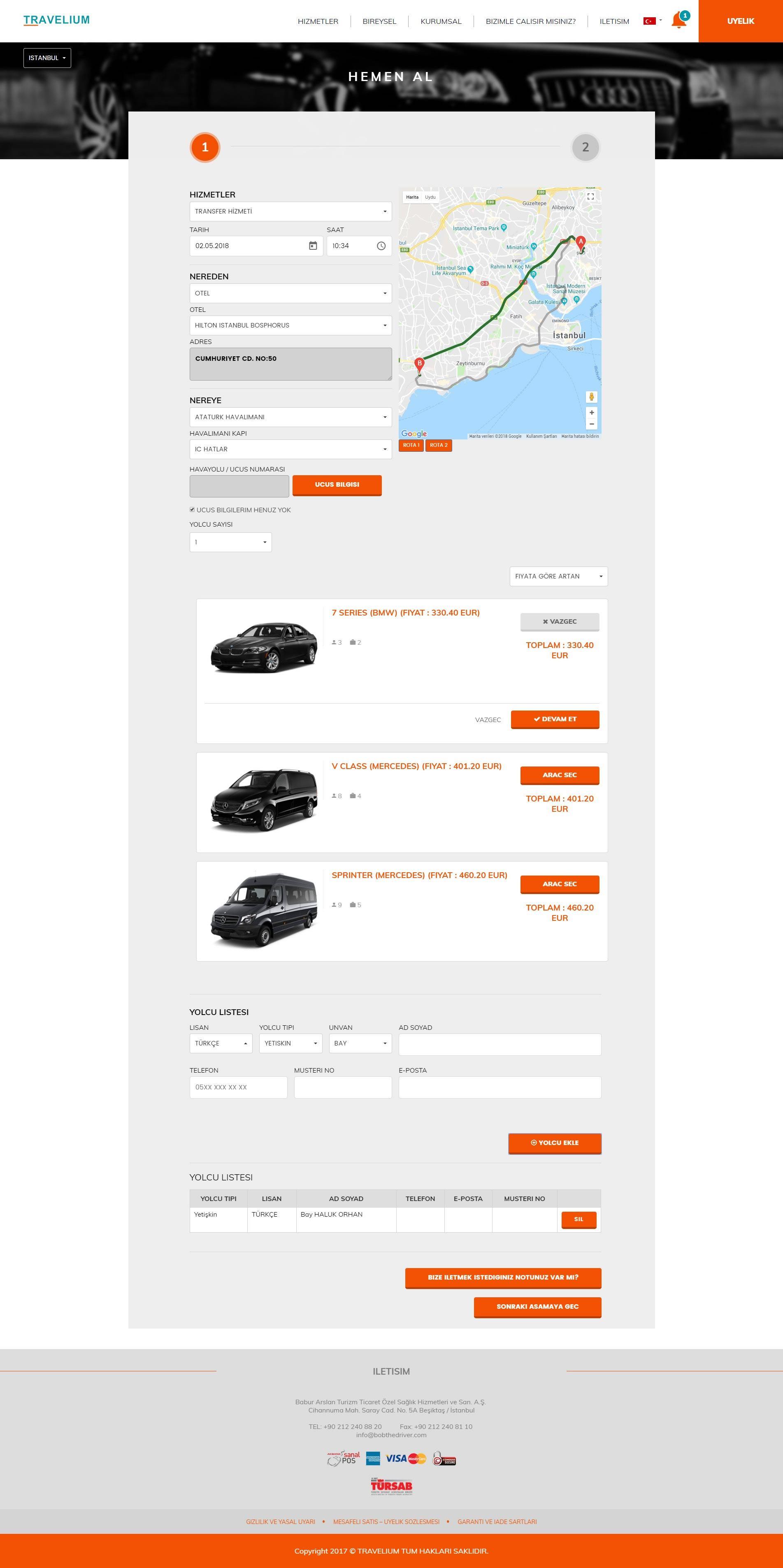 BOBtheDRIVER Web Sitesi ve Operasyon Yazılımı